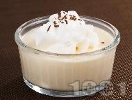 Рецепта Лесен баварски крем от ванилов пудинг със сметана, жълтъци и желатин за десерт
